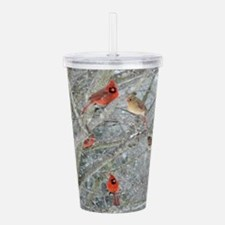 Cardinal Winter Acrylic Double-wall Tumbler