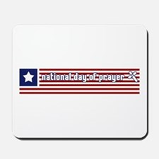 National Day of Prayer Flag Mousepad