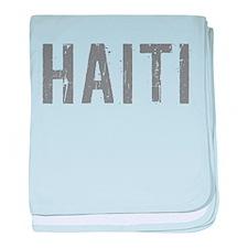 Funny Haiti baby blanket