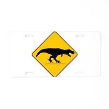 T Rex Crossing Aluminum License Plate
