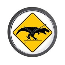 T Rex Crossing Wall Clock