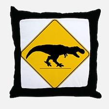 T Rex Crossing Throw Pillow