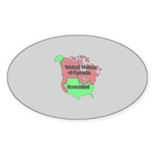Jesusland / US of Canada Oval Decal