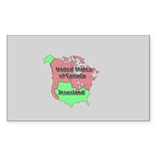 Jesusland / US of Canada Rectangle Decal