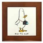 What the Duck: 1 of 4 Charact Framed Tile