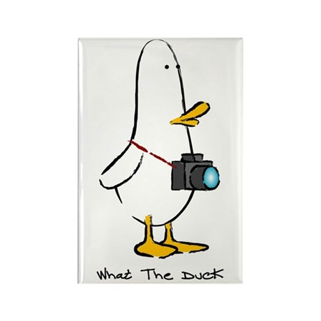 What the Duck: 1 of 4 Charact Rectangle Magnet