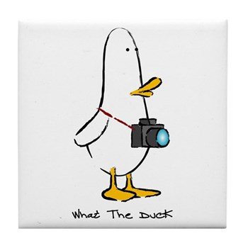 What the Duck: 1 of 4 Charact Tile Coaster