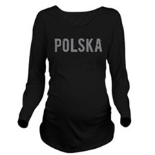 Polska Long Sleeve Maternity T-Shirt