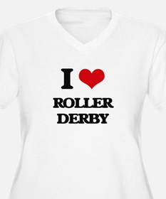 I Love Roller Derby Plus Size T-Shirt