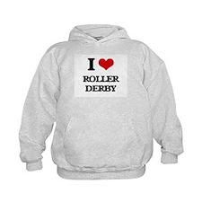 I Love Roller Derby Hoodie