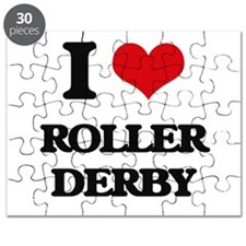 I Love Roller Derby Puzzle