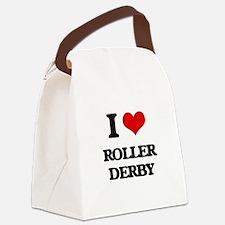 I Love Roller Derby Canvas Lunch Bag