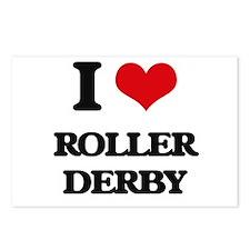 I Love Roller Derby Postcards (Package of 8)