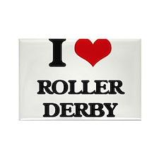 I Love Roller Derby Magnets