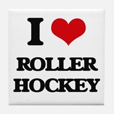 I Love Roller Hockey Tile Coaster