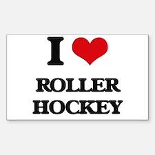 I Love Roller Hockey Decal