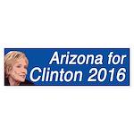 Arizona For Clinton 2016 Bumper Sticker