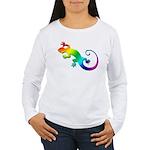 Rainbow Gecko Women's Long Sleeve T-Shirt