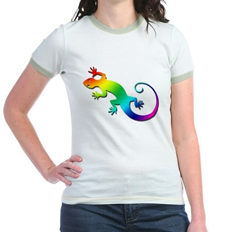 Rainbow Gecko Jr. Ringer T-Shirt
