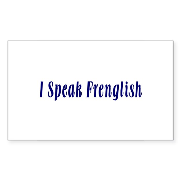 how to say i speak english in french