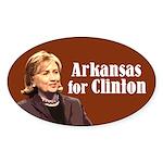 Arkansas For Clinton Sticker