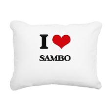 I Love Sambo Rectangular Canvas Pillow