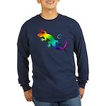 Rainbow Gecko Long Sleeve Dark T-Shirt