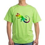 Rainbow Gecko Green T-Shirt