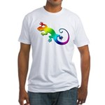 Rainbow Gecko Fitted T-Shirt