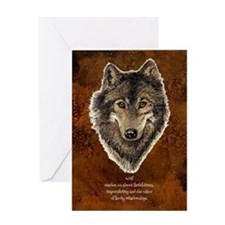 Wolf Totem Animal Guide Watercolor Nature Art Gree