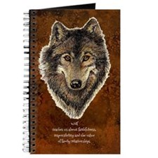 Wolf Totem Animal Guide Watercolor Nature Art Jour