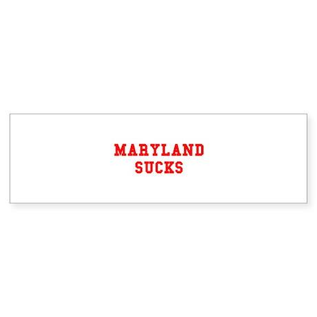 Maryland Sucks Bumper Sticker