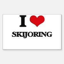 I Love Skijoring Decal