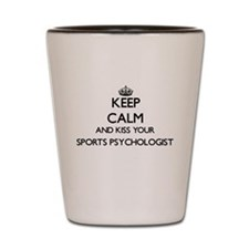 Keep calm and kiss your Sports Psycholo Shot Glass