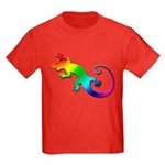 Rainbow Gecko Kids Dark T-Shirt