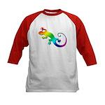 Rainbow Gecko Kids Baseball Jersey