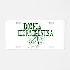 Bosnia Roots Aluminum License Plate