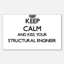 Keep calm and kiss your Structural Enginee Decal