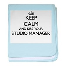 Keep calm and kiss your Studio Manage baby blanket