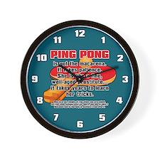 BALLSOFFURY PING-PONG Wall Clock