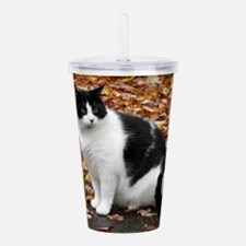 Tuxedo Cat Acrylic Double-wall Tumbler