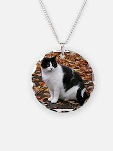 Tuxedo Cat Necklace