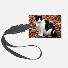 Tuxedo Cat Luggage Tag