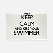 Keep calm and kiss your Swimmer Magnets