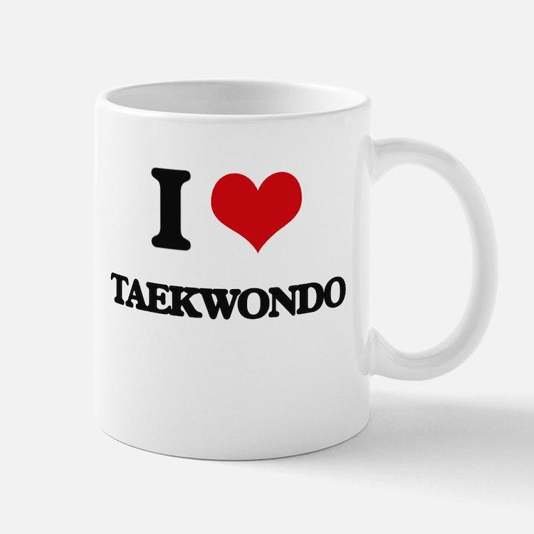 I Love Taekwondo Mugs
