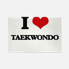 I Love Taekwondo Magnets