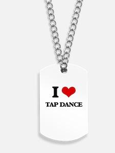 I Love Tap Dance Dog Tags