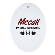 Mccall Family Reunion Oval Ornament