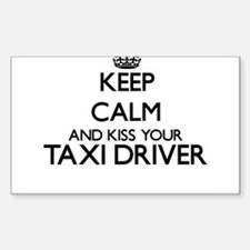 Keep calm and kiss your Taxi Driver Decal