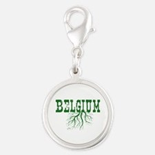 Belgium Roots Silver Round Charm